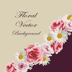 Floral vector background.
