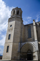 The Cathedral of Girona in  Catalonia, Spain.