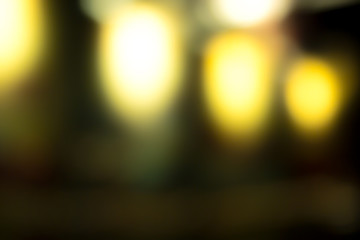 Night Blurry Bokeh City And Street Lights  Background, Hipster style