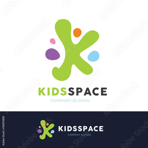 quotkids logo education logokindergarten and school logo