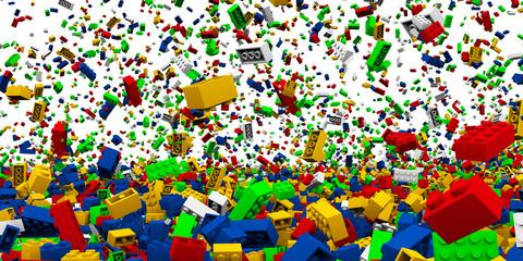 Steckspielzeug Steine mit eingelagertem Freistellpfad