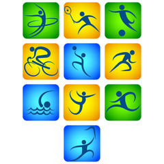 Vector set of sport icon.