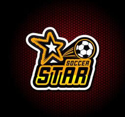 Soccer badge logo template, football design.