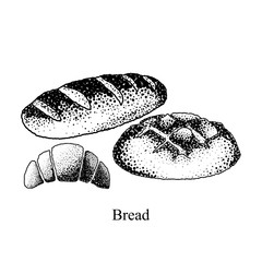 Black and white bread on a white background