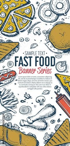 Cafe Bar Fast Food Symbols Restaurant Pattern Doodle Sketch Abstract