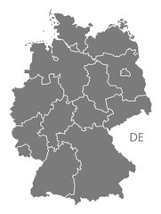 Germany Map grey