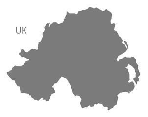 Northern Ireland Map grey