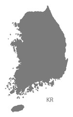 South Korea Map grey