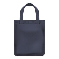 Eco textile black tote bag vector illustration.