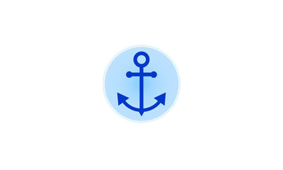 Vector plane anchor icon isolated