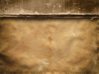 Concrete wall and handmade paper sheet background