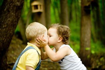 boy kissed girl