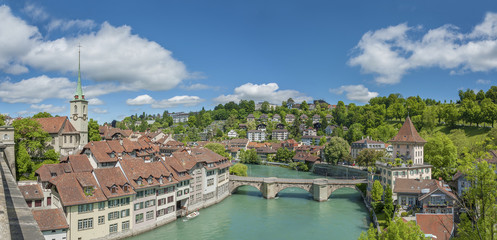 Panorama of Bern, Switzerland.