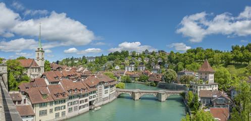Fototapete - Panorama of Bern, Switzerland.