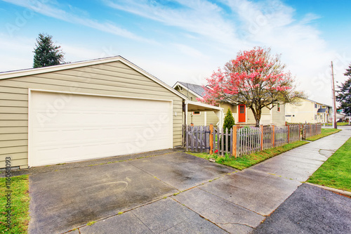 Separate garage with driveway stock photo and royalty for Separate garage