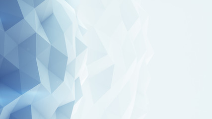 Light blue polygonal background 3D render Wall mural