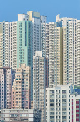 Highrise residential buildings in Hong Kong