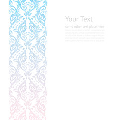 Vector ornate border boho background