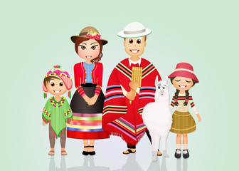 funny Peruvian family