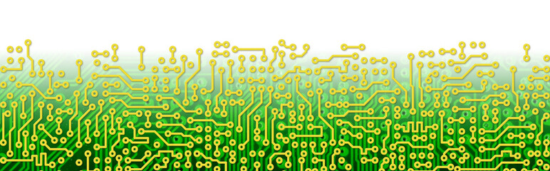 Green circuit board graphical border