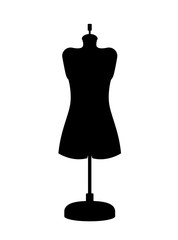 female mannequin isolated icon design, vector illustration  graphic