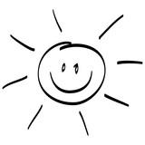 Clipart Sonne Schwarz Weiß