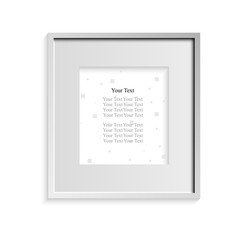 Frame for photos of gray on a white background