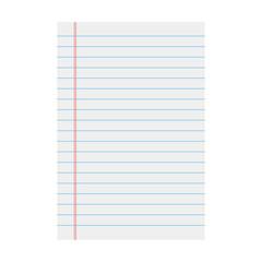 Vector notebook paper