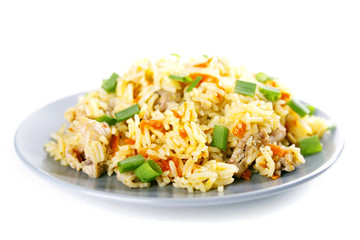 Pulav pilaf fried rice with meat