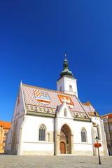 Beautiful church of St. Mark in Zagreb, Croatia