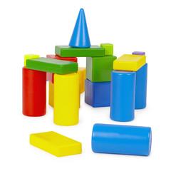 Castle of color toy bricks