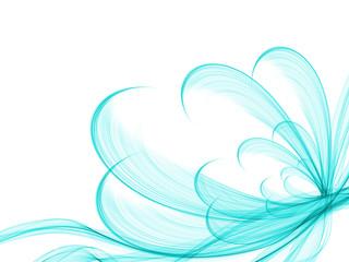 flower style smoke line fire ornament background blue