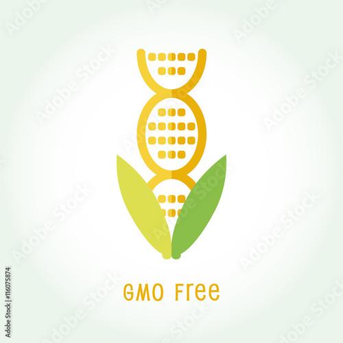 Gmo Free Icon Symbol Design Non Genetically Modified Organism Sign