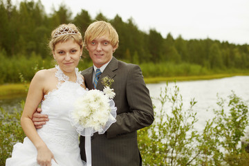 Portrait of newlyweds - outdoor
