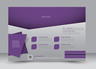 Fond de hotte en verre imprimé Prune Flyer, brochure, billboard, magazine cover template design landscape orientation for education, presentation, website. Purple color. Editable vector illustration.