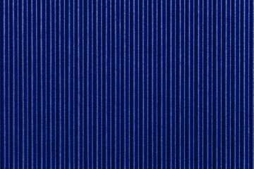 Texture corrugated blue paper. Striped background