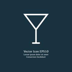 Vector illustration of wineglass icon