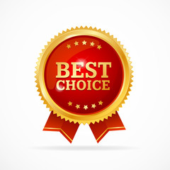 Best Choice Label. Vector