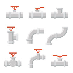 Vector icon of water pipe connector for plumbing and piping work.