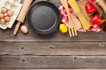 Cooking utensils and ingredients