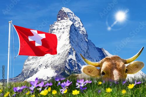 Wall mural Urlaub in der Schweiz