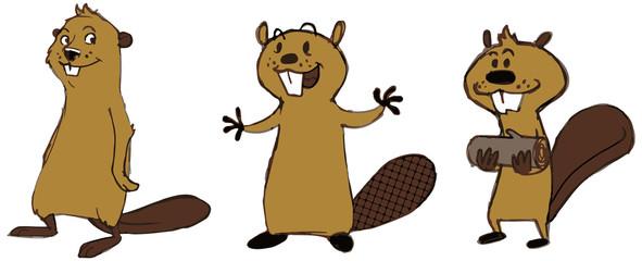 Beaver cartoon characters