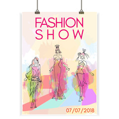 Fashion show poster collection of women's clothes