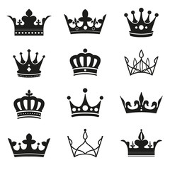 crown silhouette set