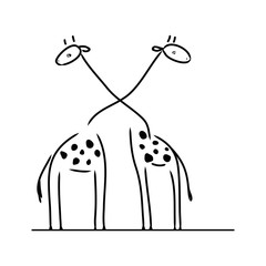 Two abstract giraffe