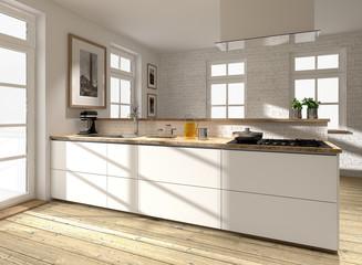 Moderne Küchenzeile, Küchenblock