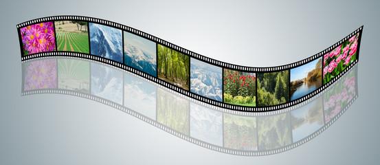 Film made with various nature photos