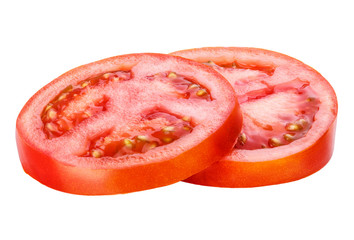 sliced tomato isolated
