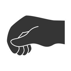 hand sign language, isolated flat icon design