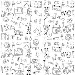 Cute school doodles element
